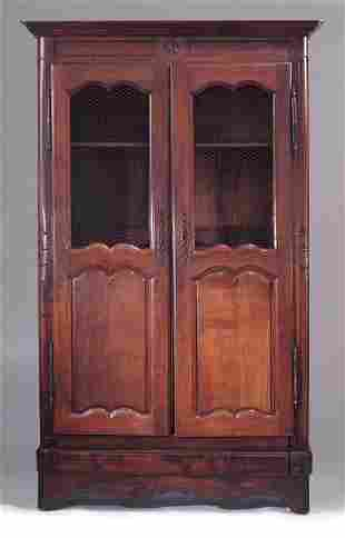 SMALL FRENCH PROVINCIAL WALNUT ARMOIRE Mid-18th c. T