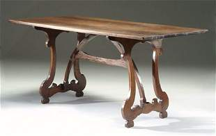 ITALIAN WALNUT REFECTORY TABLE 17th c. & later Top a