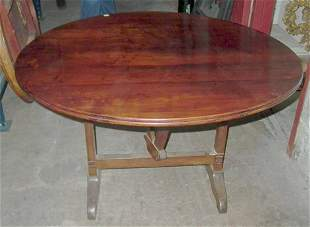 PROVINCIAL FRENCH FRUITWOOD TILT-TOP DINING TABLE E