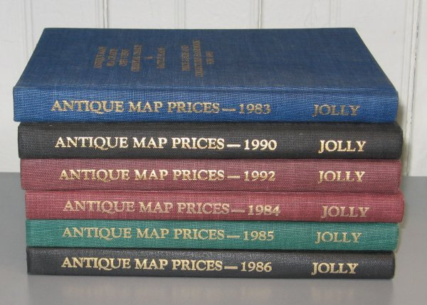1019: 6 vols.  Jolly, David C. Antique Maps... Price Gu