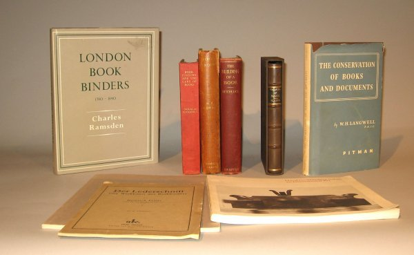 1024: 9 vols. (3 wrappers.)  Bookbinding & The Care of