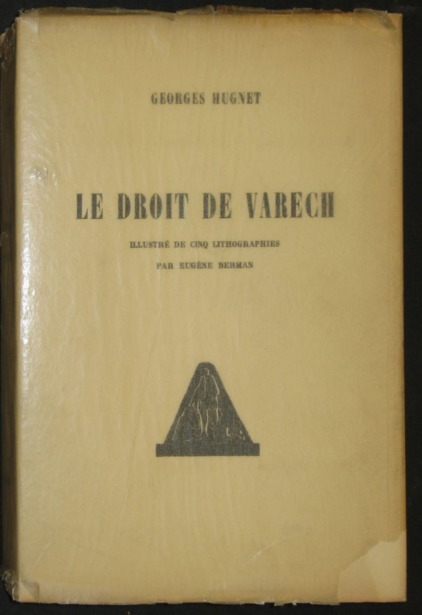 1045: 1 vol. (Berman, Eugene, illustrator.) Hugnet, Geo