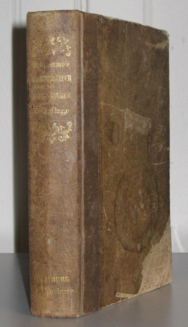 1292: 1 vol. + 1 piece. Bromme, Traugott. Hand-und Reis