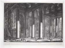 1521: 1 piece. Etching. Piranesi, Giovanni Battista. [V