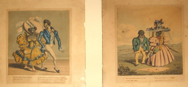 1554: 2 pieces. (African-American Caricatures.) (Clay,