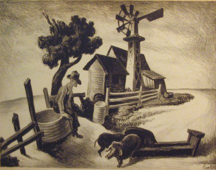 2004A: THOMAS HART BENTON, (AMERICAN 1889-1975), HOMEST