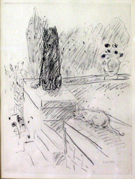 2006A: PIERRE BONNARD, (FRENCH 1867-1947), CHAT ET CHIE