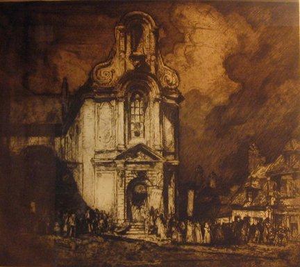 2008: TWO ETCHINGS SIR FRANK BRANGWYN, (BRITISH 1867-19