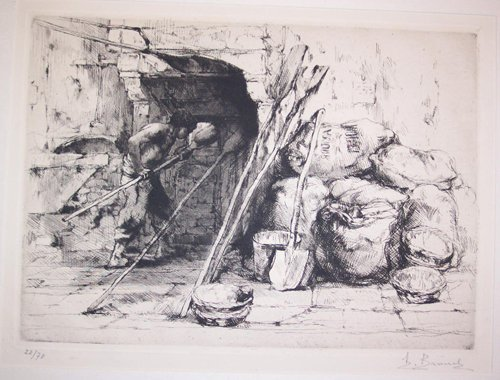 2009: AUGUSTE BROUET, (FRENCH 1872-1941) THREE ETCHINGS