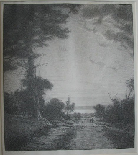 2010: BOLTON BROWN, (AMERICAN 1865-1936) TWO LITHOGRAPH