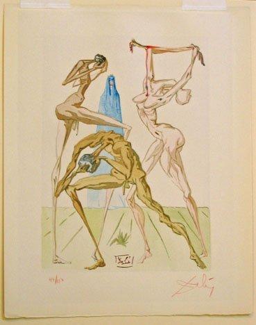 2015: SALVADOR DALI, (SPANISH 1904-1989) TWO WOODCUTS,