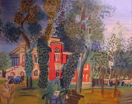 2019: RAOUL DUFY, (FRENCH 1877-1953), PADDOCK A DEAUVIL