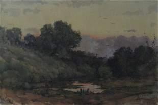 2120: ALEXANDER HARRISON, (AMERICAN 1853-1930), RIVER A