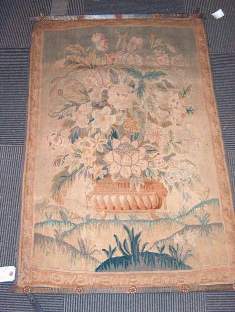389: CONTINENTAL TAPESTRY PANEL Ca. 1700 Mixed Flowers