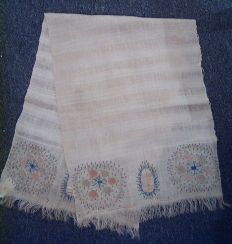 390: OTTOMAN EMBROIDERED LINEN TOWELS Turkey, 19th c. O