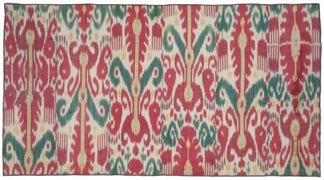 394: IKAT PANEL Central Asia, 19th c. Approx. 2 ft. 9 i