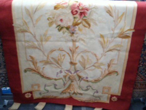 400: AUBUSSON PANEL France, late 19th c. Approx. 8 ft.