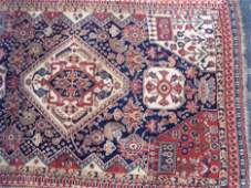 485: QASHQA'I RUG Southwest Persia, ca. 1900 Approx. 4