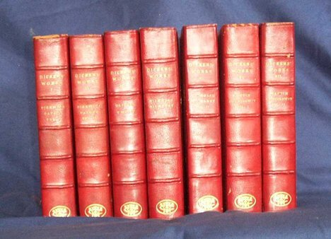 2326: 36 vols.  Dickens, Charles. The Works. New York:
