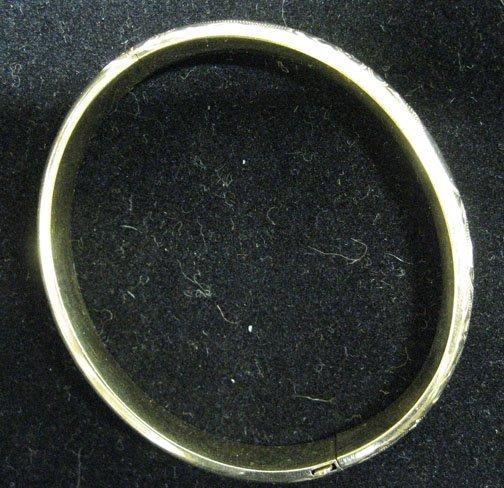 3001: 14k Gold Bangle Bracelet, , The hollow bangle sty