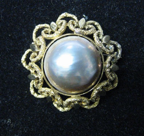 3006: A Large Grey South Sea Pearl Pin, , The large cab