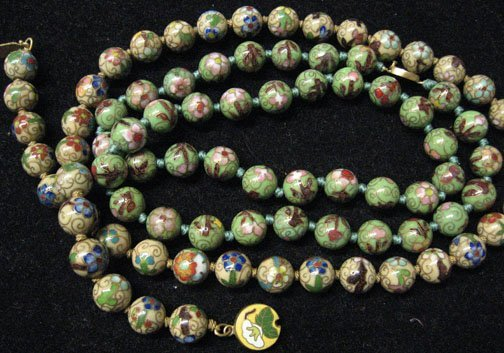 3011: Two piece Lady's Closionne Bead Necklaces, , With