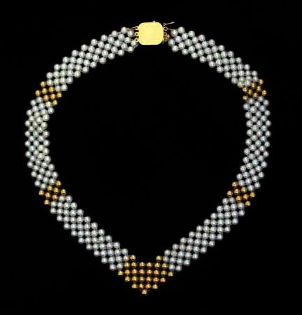 3021: A Seed Pearl Necklace, , Off pink seed pearl and