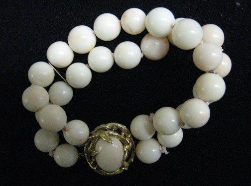 3023: Pink Coral and 14k. Bracelet, , Designed with 24