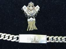 3036 Victorian Pendant Pin and Mans Gold Filled Bracel