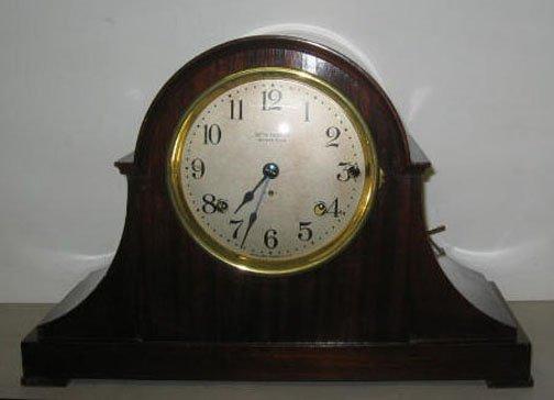 3448: Seth Thomas 'Sonora Chime' mantel clock, , Mahoga