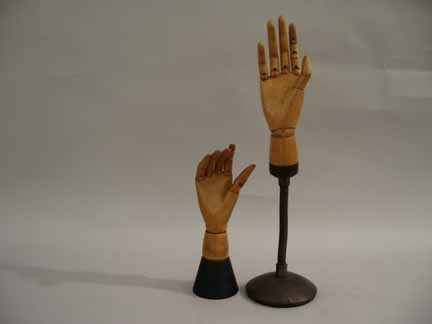 1: Two articulated models of hands, 20th century, Both