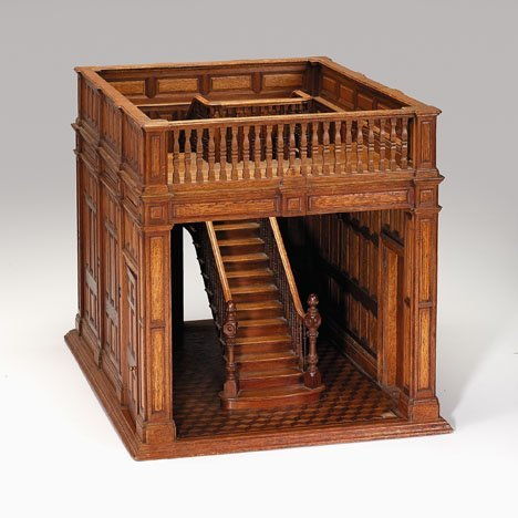 7A: Fine French architectural model of a staircase, c.1