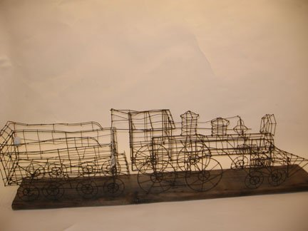 8C: Wire model of a locomotive, late 19th century, Work