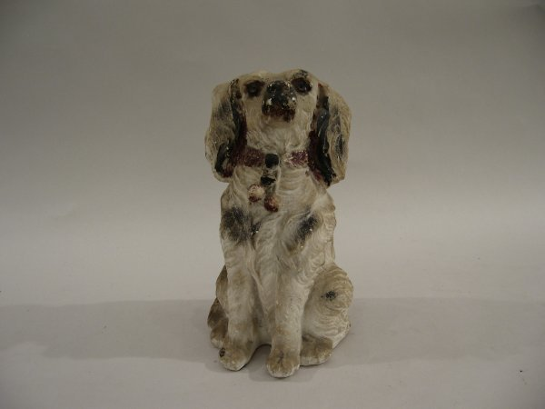 13: American chalk model of a dog, c. 1900, possibly a
