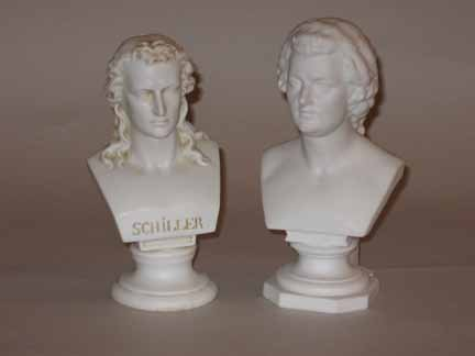 15: Two bisque porcelain busts, 19th and 20th century,