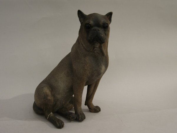 16: Plaster model of a Pug, late 19th century, The well