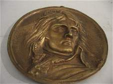 308: Bronze wall plaque, late 19th early 20th century,