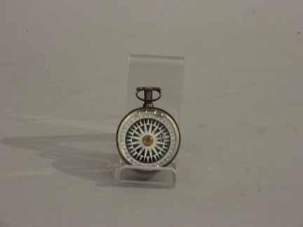 445: English silver pocket compass, london, 1849, Of ci