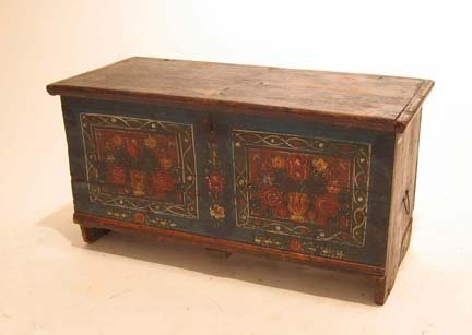 2010: Swiss painted marriage chest, early 19th century,