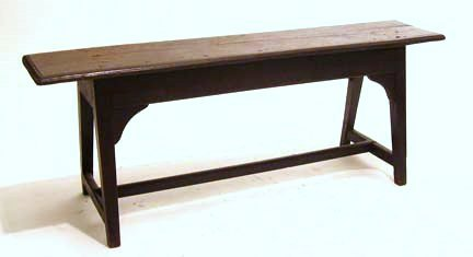 2011: Continental oak bench, 17th century, The molded r