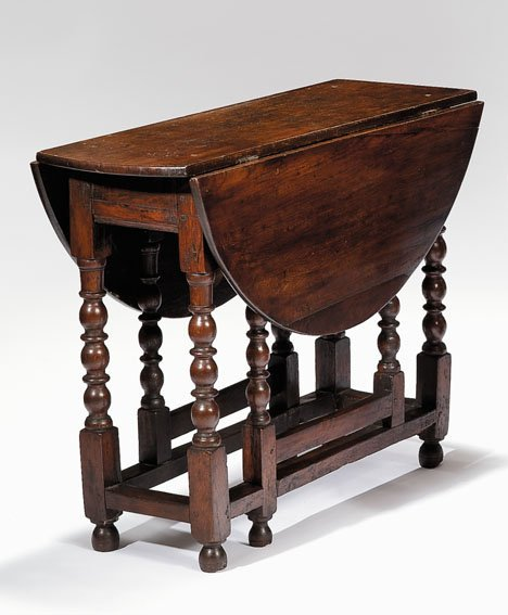 2017: Charles II oak gate-leg table, late 17th century,