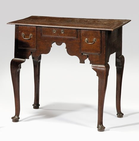 2023: Queen Anne oak dressing table, circa 1715, The re