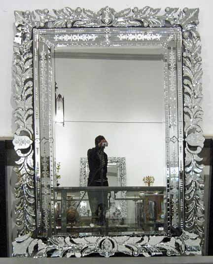 2025: Large Venetian Overmantel mirror, late 19th centu