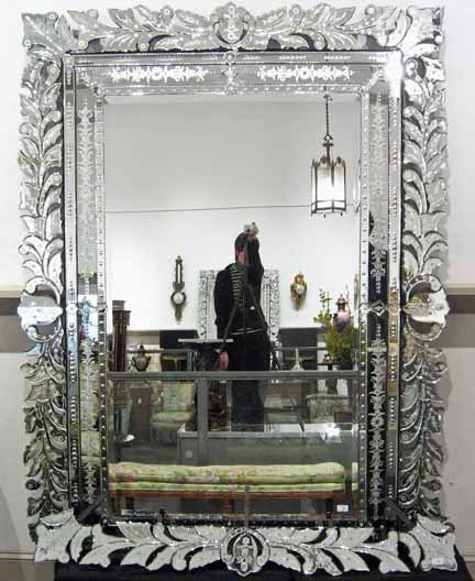 2026: Large Venetian overmantel mirror, late 19th centu