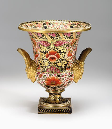 3478: Derby porcelain vase, late 18th century, Decorate