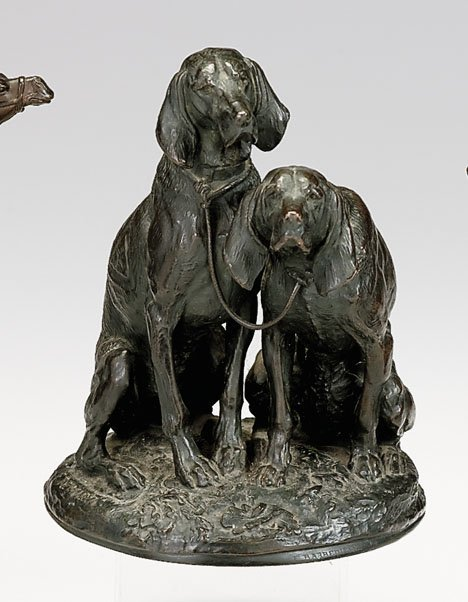 3713: Emmanuel Fremiet (French 1824-1910), hunting dogs