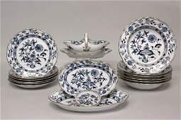 3808 Meissen giltdecorated porcelain partial dinner s