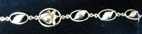 4005: Yellow and rose gold loose link bracelet, 14 Kara