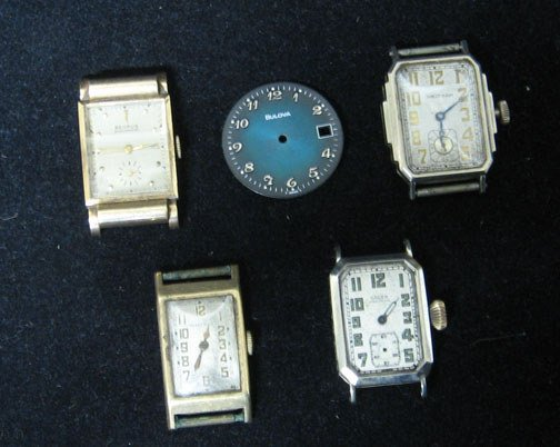 4007: Four piece Mens Watch Movements, With 2 watches b
