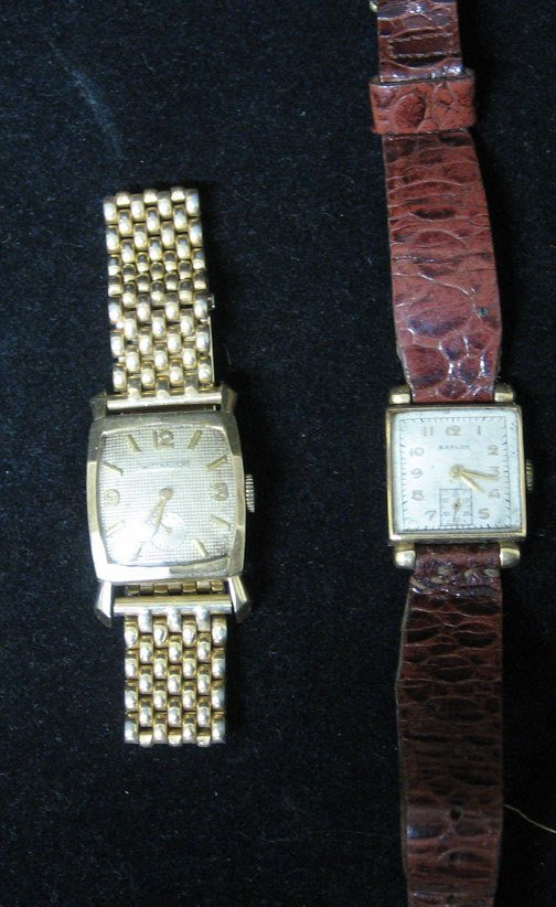 4016: Two Gold Case Wrist Watches, Comprised of Baylor